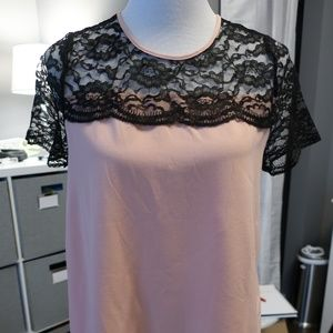 Kimi and Kai Pink and Black Maternity Blouse